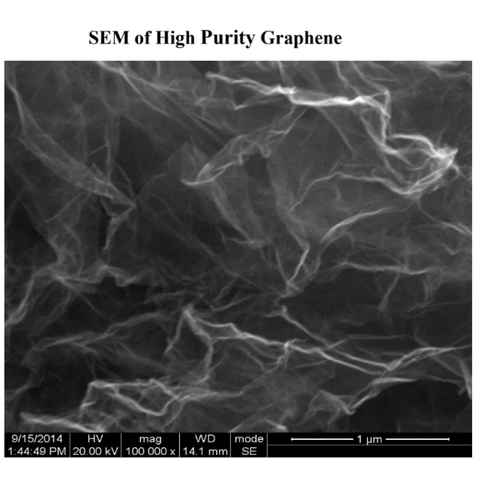 SEM of High-purity Graphene, >98wt%