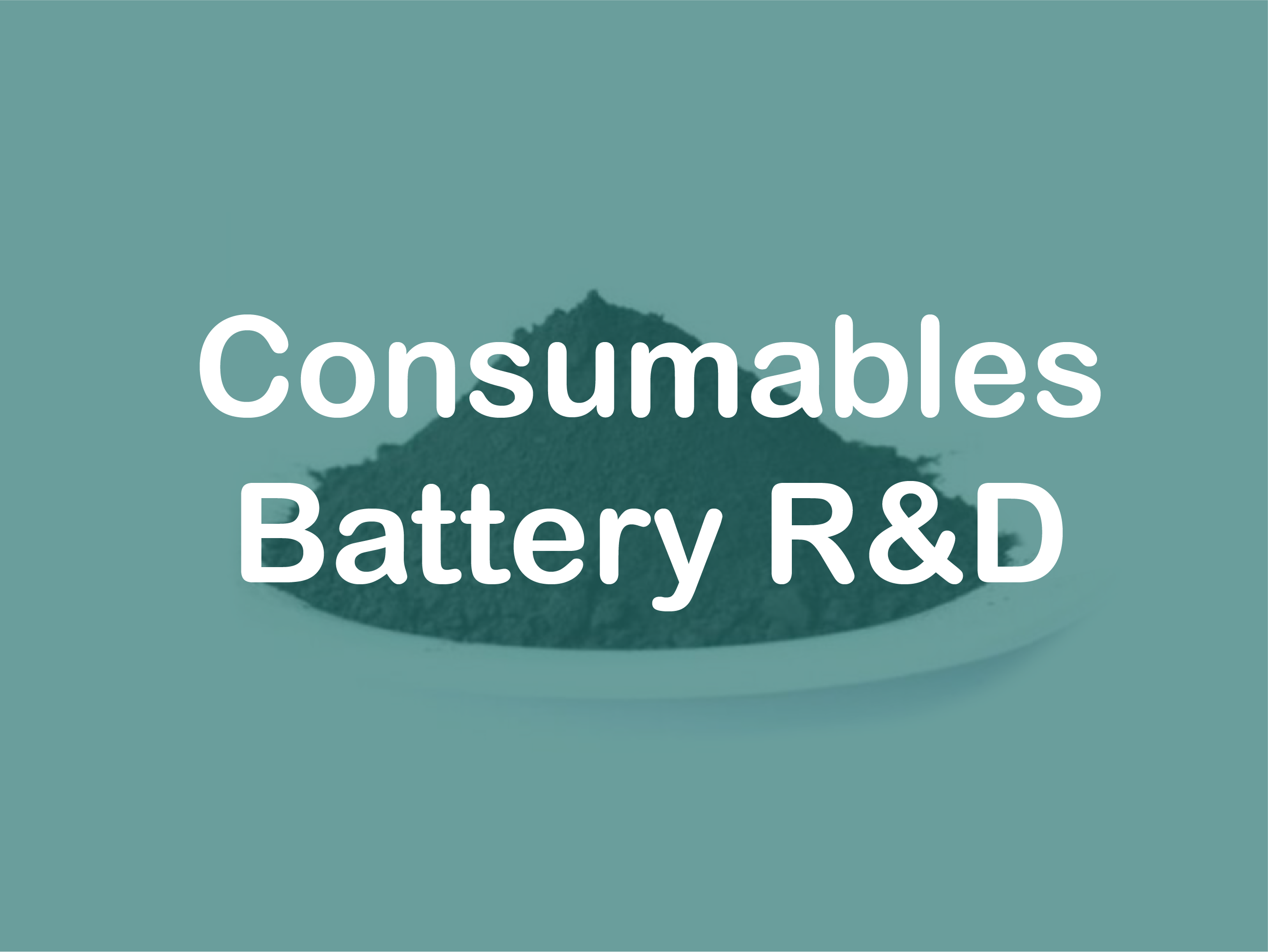 consumables for battery R&D