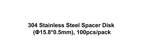 304 Stainless Steel Spacer Disk (Φ15.8*0.5mm), 100pcs/pack