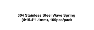 304 Stainless Steel Wave Spring (Φ15.4*1.1mm), 100pcs/pack