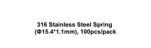 316 Stainless Steel Spring (Φ15.4*1.1mm), 100pcs/pack