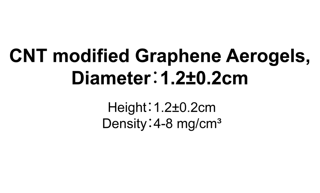 CNT modified Graphene Aerogels,Diameter:1.2±0.2cm