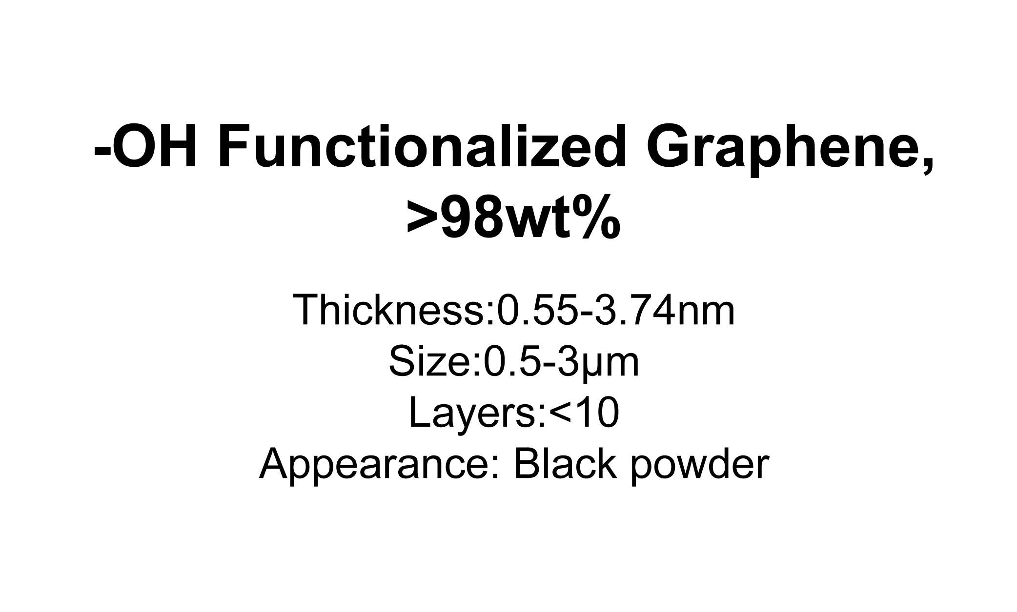 '-OH Functionalized Graphene, >98wt%