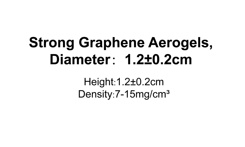 Strong Graphene Aerogels,Diameter:1.2±0.2cm