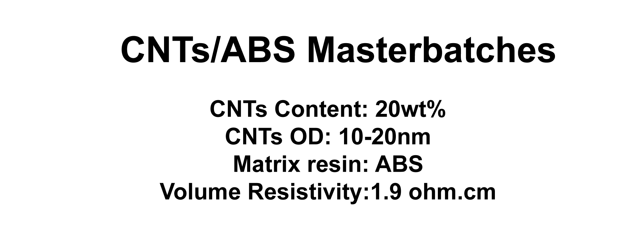 CNTs/ABS Masterbatches