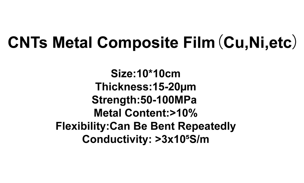 CNTs Metal Composite Film (Cu,Ni)