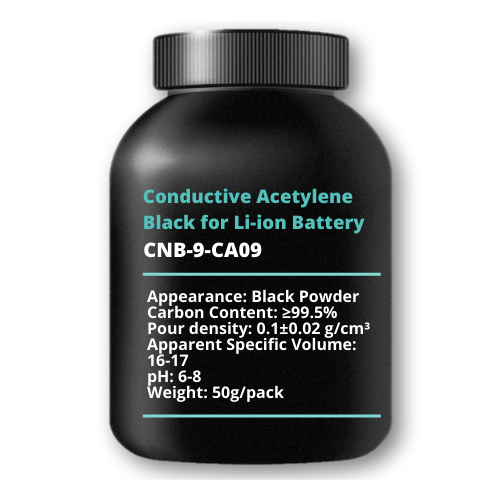 Conductive Acetylene Black for Li-ion Battery, 50g/pack