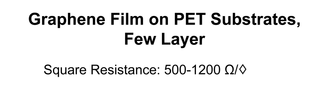 Graphene Film on PET Substrates (Few Layer)