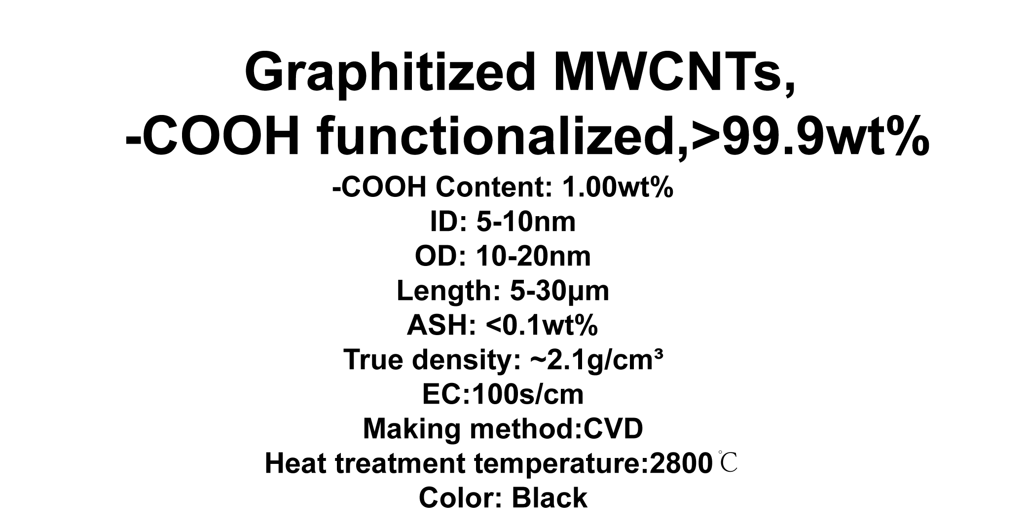 Graphitized MWCNTs, -COOH functionalized (TNGMC3)