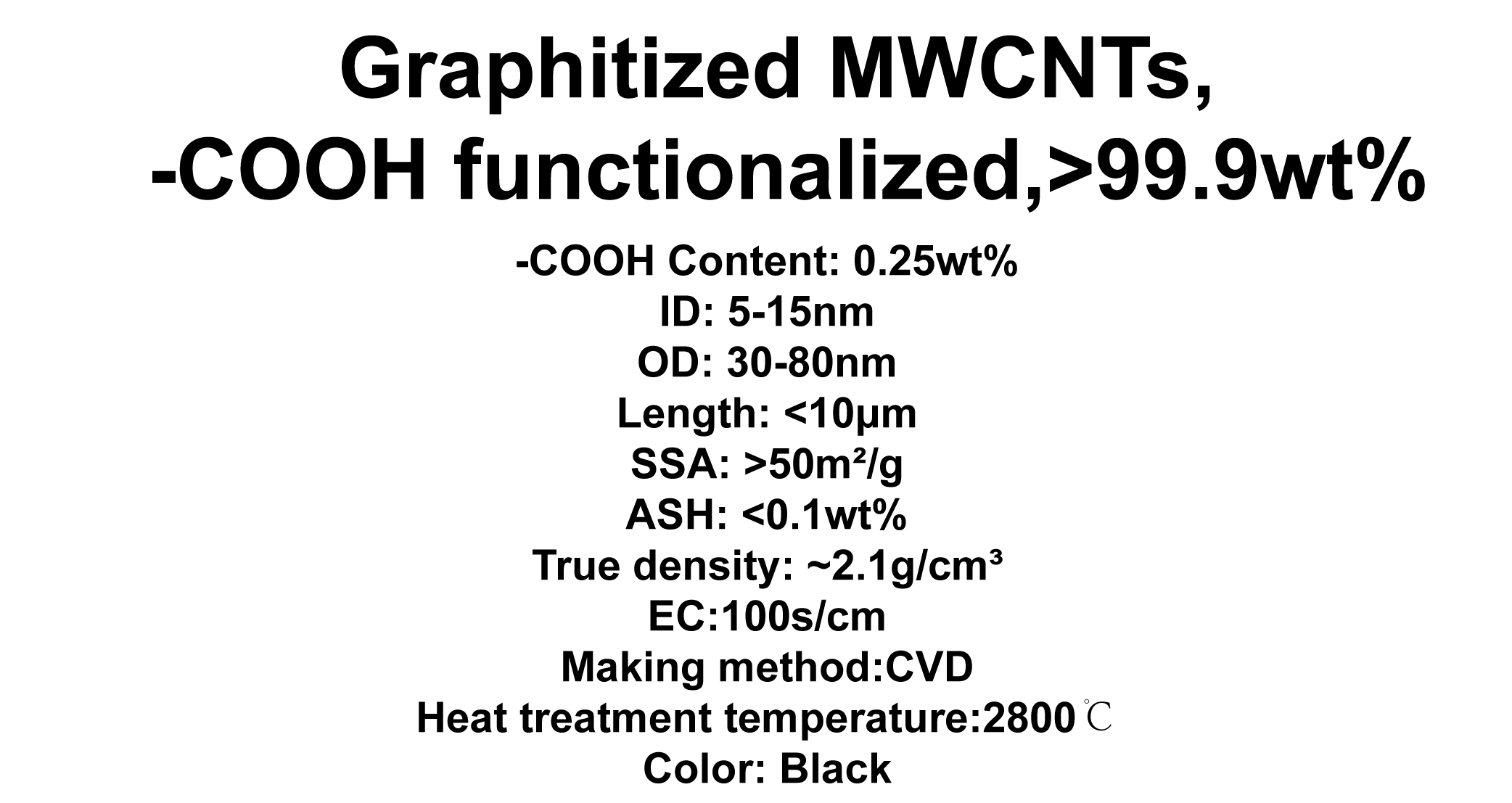 Graphitized MWCNTs, -COOH functionalized (TNGMC8)