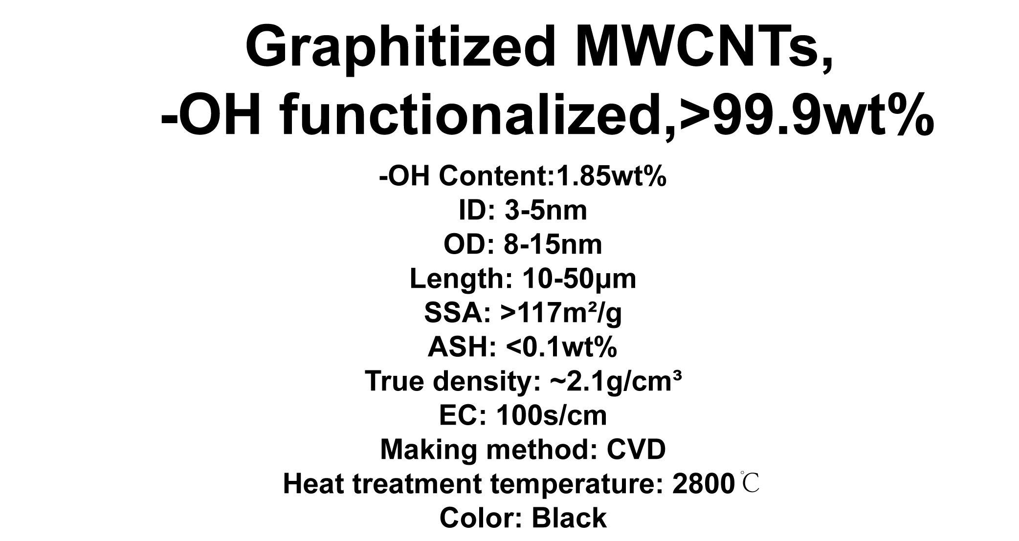 Graphitized MWCNTs, -OH functionalized (TNGMH2)