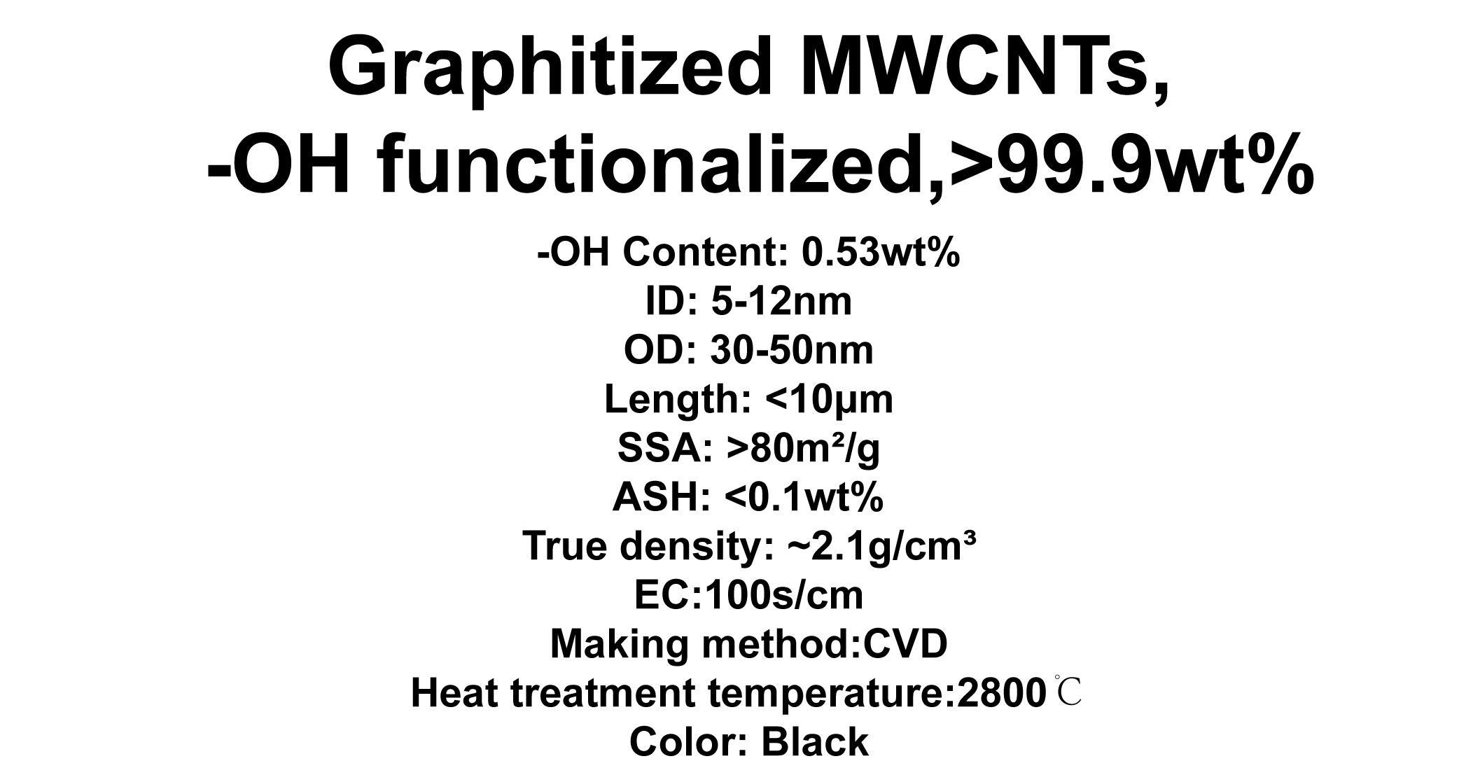 Graphitized MWCNTs, -OH functionalized (TNGMH7)