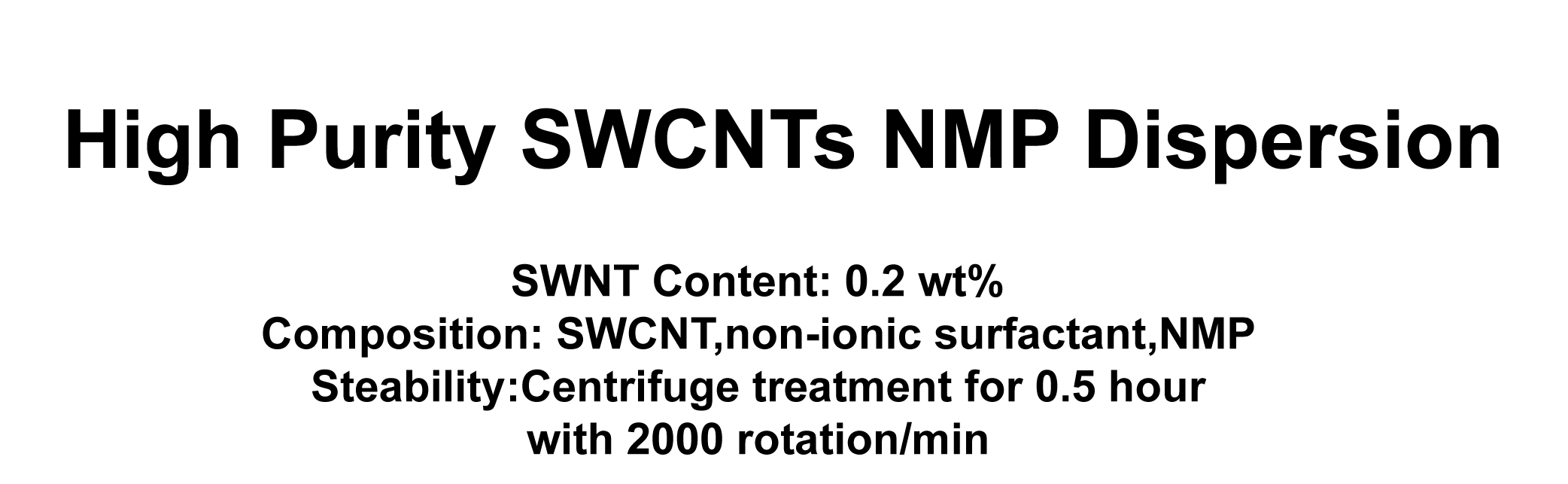 SWCNTs Dispersion