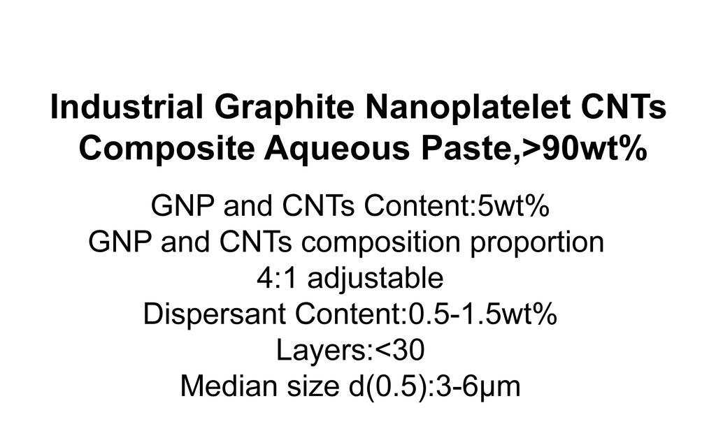 Industrial Graphite Nanoplatelet CNTs Composite Aqueous Paste