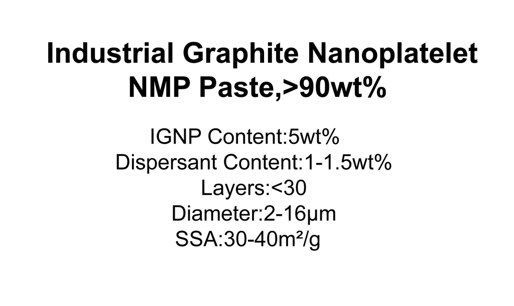 Industrial Graphite Nanoplatelet NMP Paste