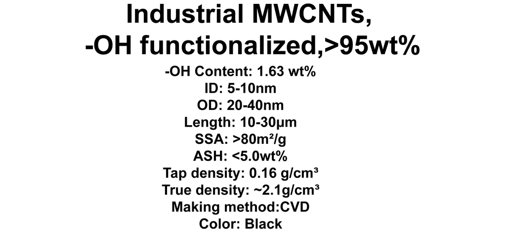 Industrial MWCNTs, -OH functionalized (TNIMH6)