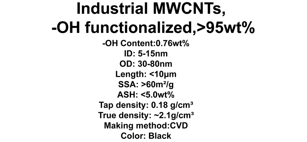 Industrial MWCNTs, -OH functionalized (TNIMH8)