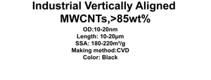 Industrial Vertically Aligned MWCNTs (TNVM3)