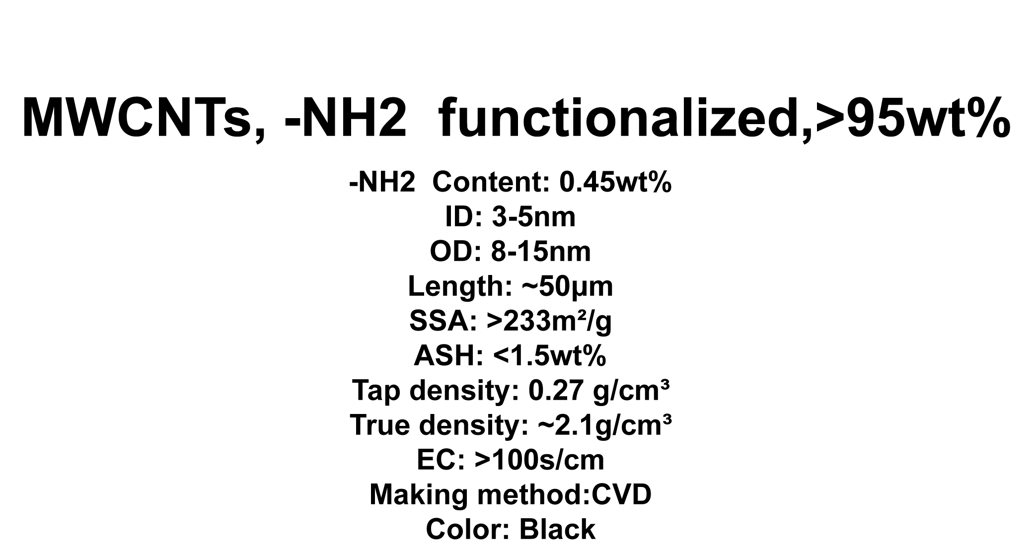 MWCNTs, -NH2  functionalized (TNMN2)