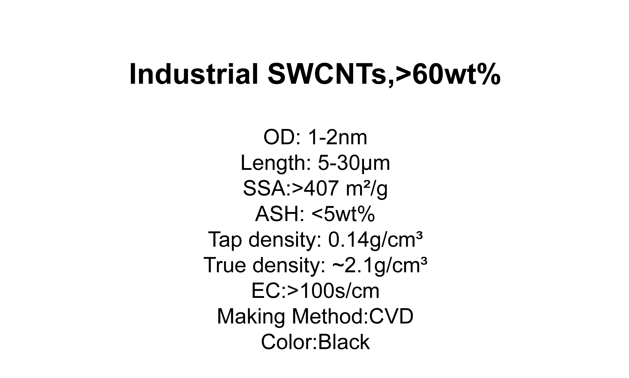Industrial SWCNTs