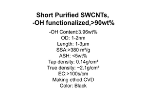 Short Purified SWCNTs, -OH functionalized