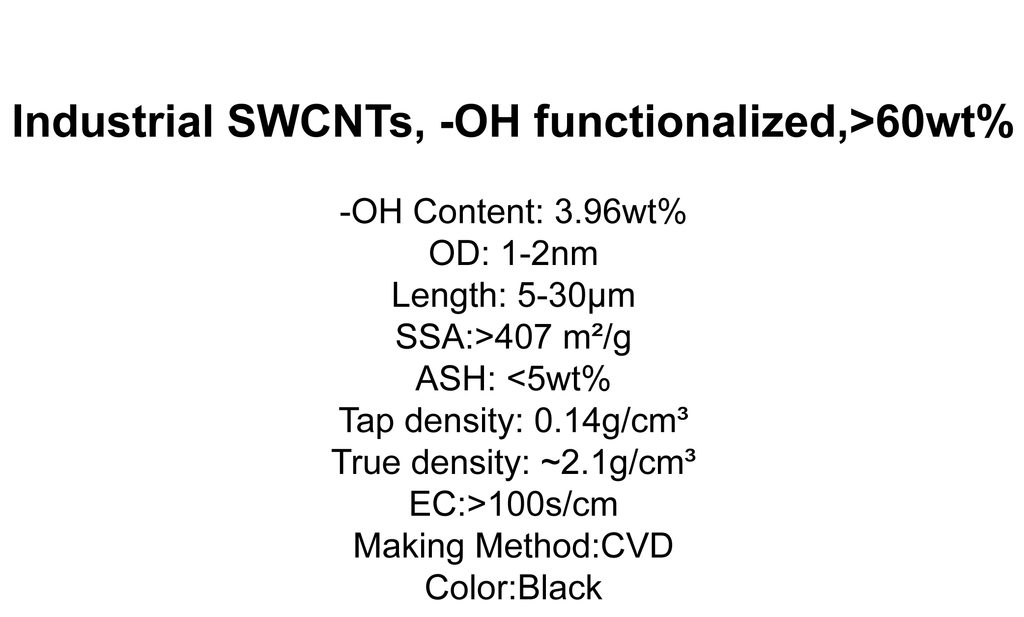 Industrial SWCNTs, -OH functionalized