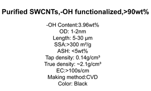 Purified SWCNTs,-OH functionalized