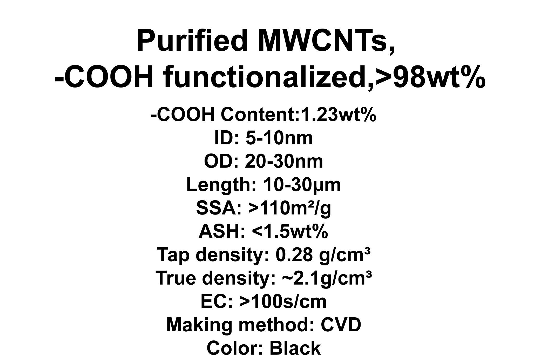 Purified MWCNTs, -COOH functionalized (TNMC5)