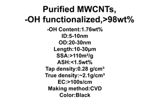 Purified MWCNTs, -OH functionalized (TNMH5)