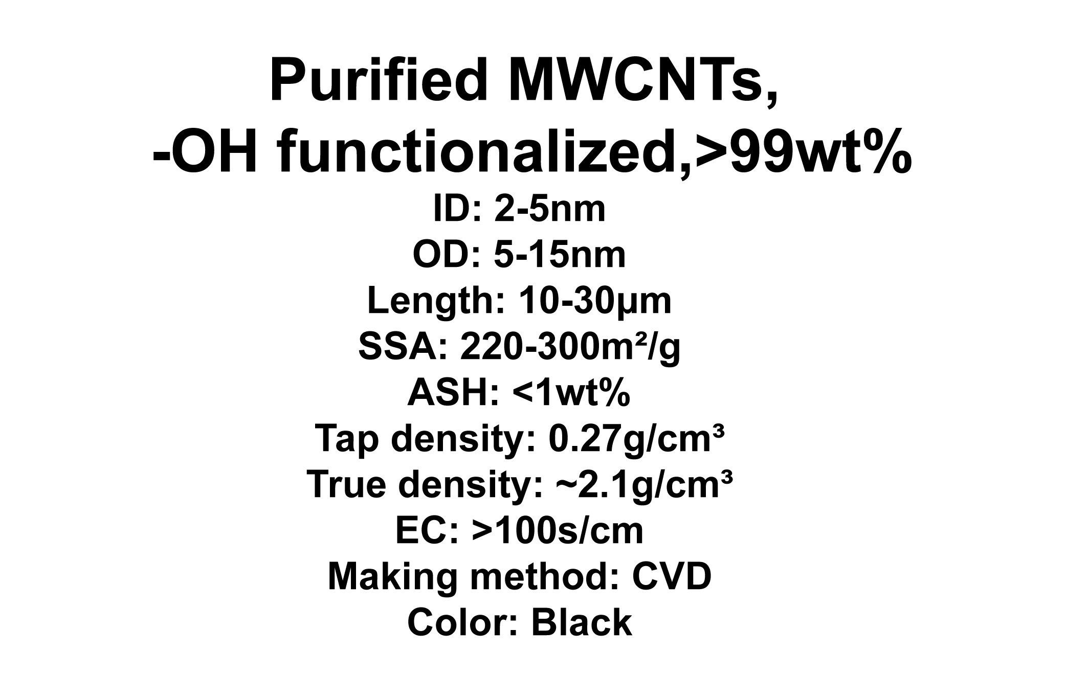 Purified MWCNTs, -OH functionalized (TNMPH1)