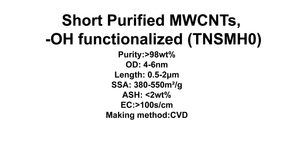 Short Purified MWCNTs, -OH functionalized (TNSMH0)