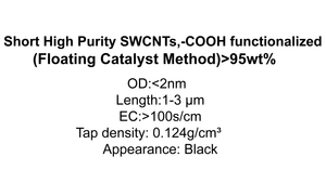 Short High Purity SWCNTs,-COOH functionalized (Floating Catalyst Method)