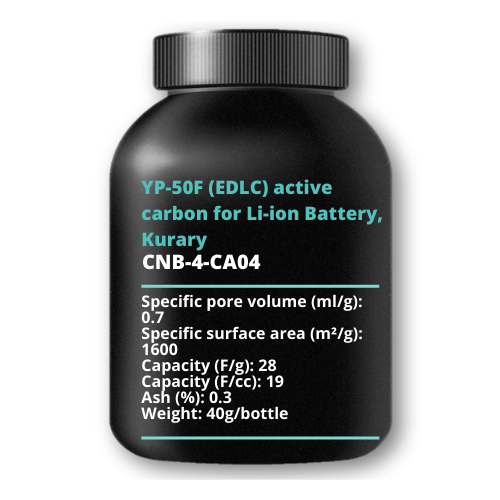 YP-50F (EDLC) active carbon for Li-ion Battery, Kurary, 40g/bottle