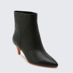 Dolce Vita Dee Dee Black Leather Ankle Boot
