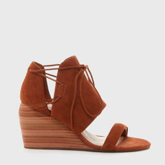 Kelsi Dagger Brooklyn River Wedge Sandal Timber Suede