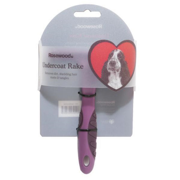 Rosewood Salon Grooming Soft Protection Undercoat Rake - Pet Mall