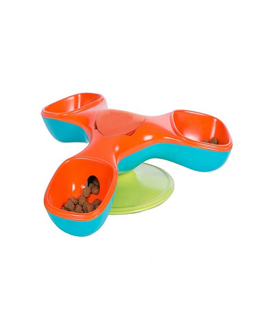 Outward Hound Triple Treater Totter Dog Bowl - Pet Mall