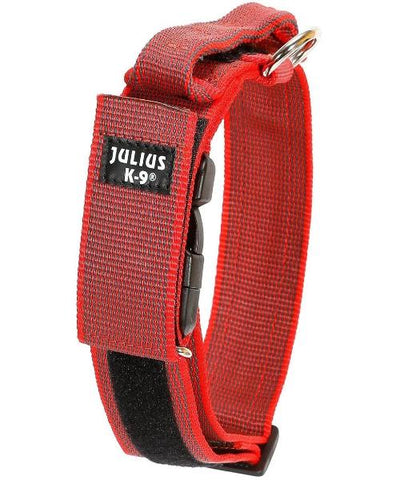 Julius K-9 Red Collar with Handle - Pet Mall