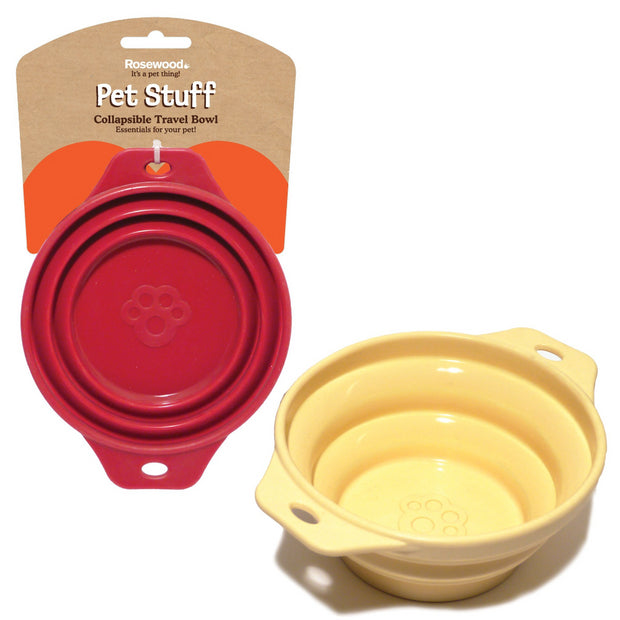 Rosewood Collapsible Travel Bowls - Pet Mall