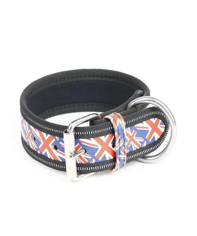 Julius K-9 Collar - Union Jack with No Handle - Pet Mall