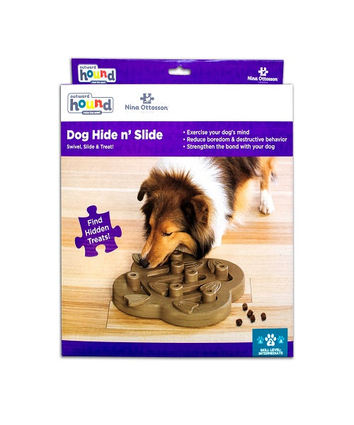 Nina Ottosson Dog Hide 'N Slide Composite Dog Toy - Pet Mall