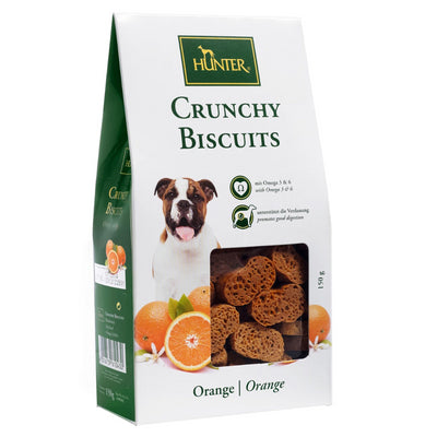 Hunter Crunchy Biscuits – Orange Dog Snack Treats for All sizes of Dogs - Pet Mall