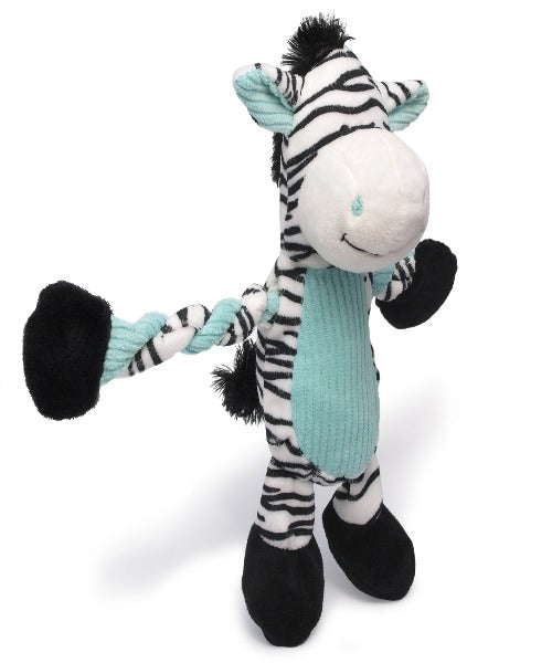 Charming Pets Pulleez Zebra Dog Toy
