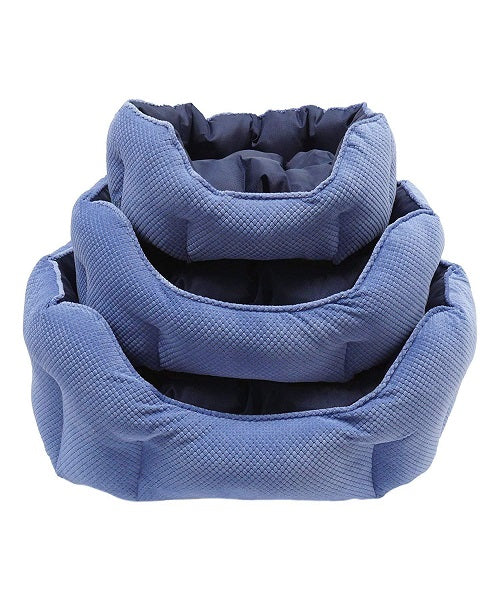 Rosewood Quilted Navy Water-Resistant Beds - Pet Mall