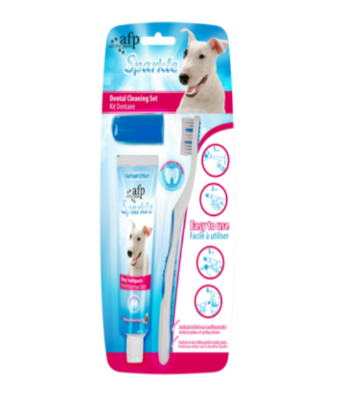 All For Paws Sparkles Palm Assisted Brush & Toothpaste Combo Pack - Pet Mall