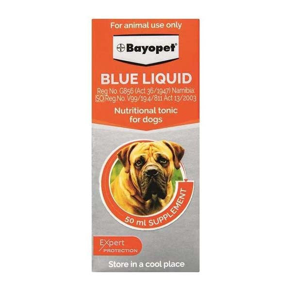 BAYOPET BLUE LIQUID 50ML NUTRITIONAL TONIC FOR DOGS - Pet Mall