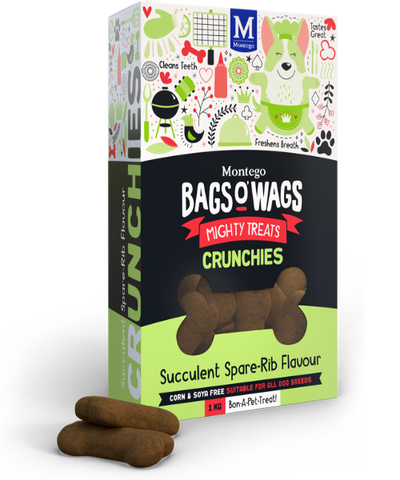 Montego Bags O' Wags Succulent Spare-Rib Flavour Dog Biscuits