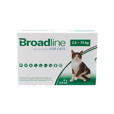 BROADLINE CAT LRG (2.5-7.5KG) Single Tab - FLEA AND TICK TREATMENT - Pet Mall