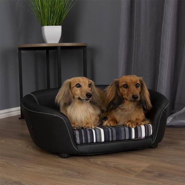 Scruffs Regent Faux Leather Sofa Dog Bed - Pet Mall