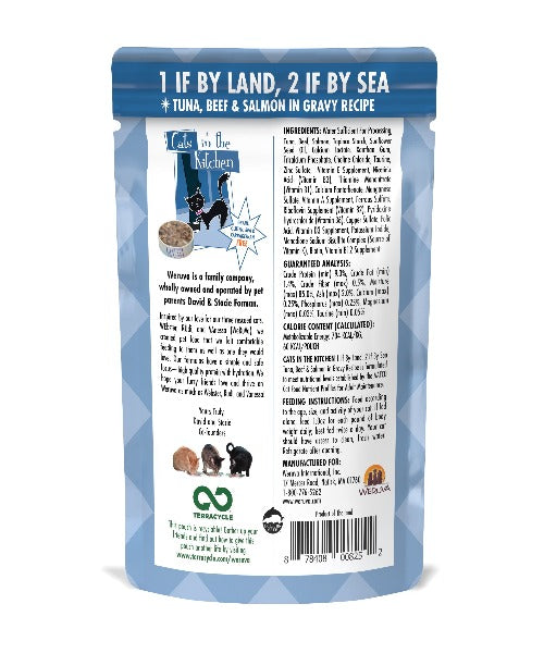 Weruva 1 If BY Land, 2 IF By Sea in Gravy Pouches Cat Food